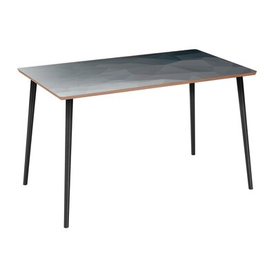Clary Dining Table Table Base Color: Black, Table Top Color: Walnut