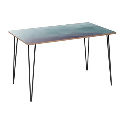 Coole Dining Table Table Base Color: Black, Table Top Color: Walnut