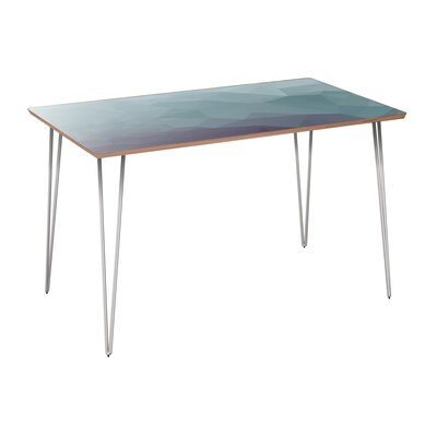 Coole Dining Table Table Base Color: Chrome, Table Top Color: Walnut