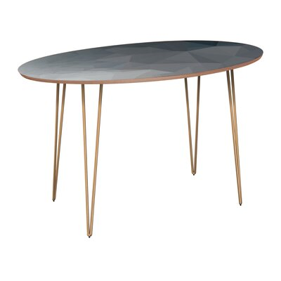 Classen Dining Table Table Base Color: Brass, Table Top Color: Walnut