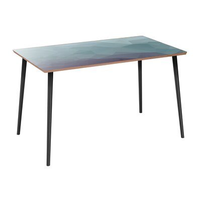 Coomer Dining Table Table Base Color: Black, Table Top Color: Walnut