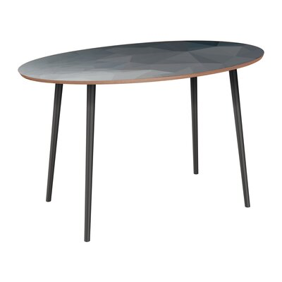 Claudio Dining Table Table Base Color: Black, Table Top Color: Walnut