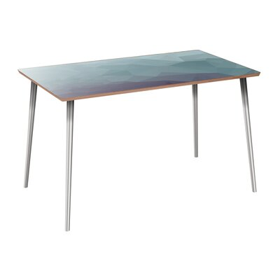 Coomer Dining Table Table Base Color: Chrome, Table Top Color: Walnut