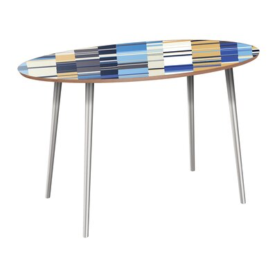 Campuzano Dining Table Table Base Color: Chrome, Table Top Color: Walnut