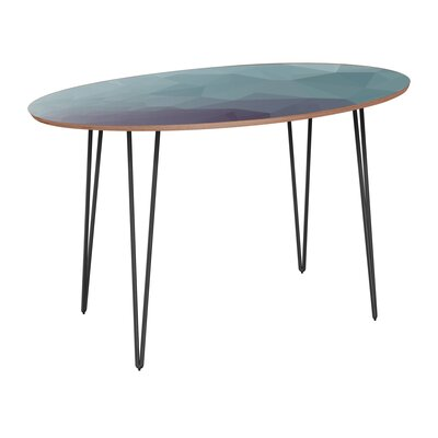 Claunch Dining Table Table Base Color: Black, Table Top Color: Walnut