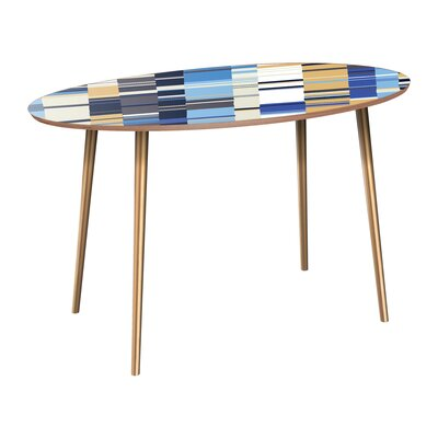 Campuzano Dining Table Table Base Color: Brass, Table Top Color: Walnut