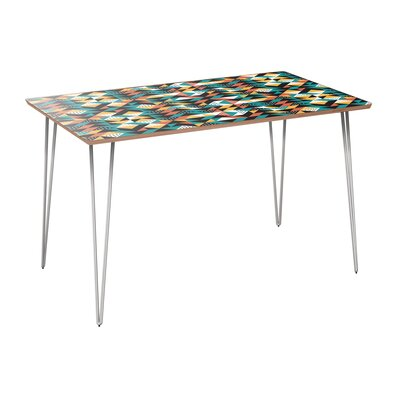 Coomes Dining Table Table Base Color: Chrome, Table Top Color: Walnut
