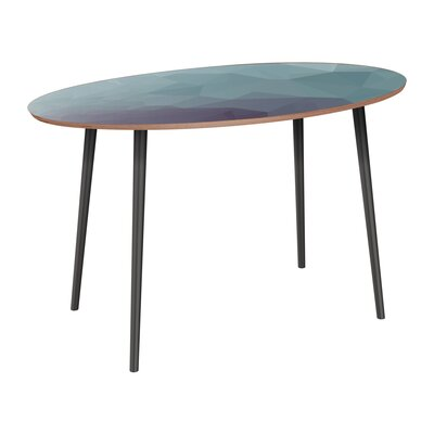 Claus Dining Table Table Base Color: Black, Table Top Color: Walnut