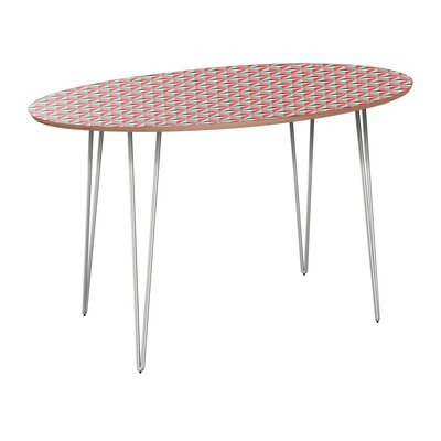 Camryn Dining Table Table Base Color: Chrome, Table Top Color: Walnut