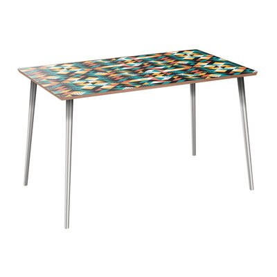 Coonrod Dining Table Table Base Color: Chrome, Table Top Color: Walnut