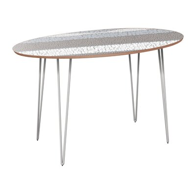 Cleaves Dining Table Table Base Color: Chrome, Table Top Color: Walnut