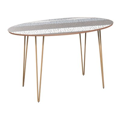 Cleaves Dining Table Table Base Color: Brass, Table Top Color: Walnut