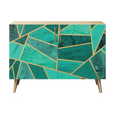 Lyle 2 Door Cabinet Color: Brass/Natural