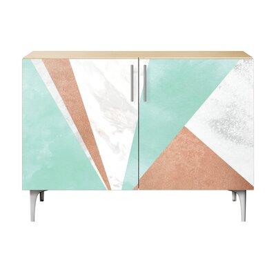 Merritt 2 Door Cabinet Color: Chrome/Natural