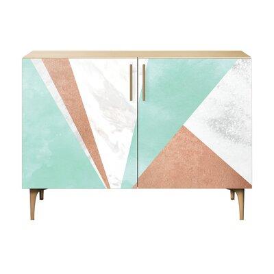 Merritt 2 Door Cabinet Color: Brass/Natural