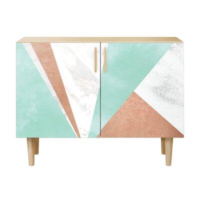 Merrill 2 Door Cabinet Color: Natural