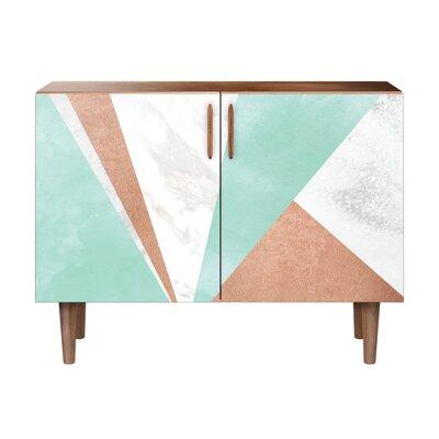 Merrill 2 Door Cabinet Color: Walnut