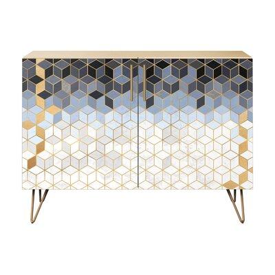 Leonard 2 Door Cabinet Color: Brass/Natural