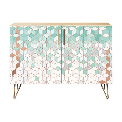 Lloyd 2 Door Cabinet Color: Brass/Natural