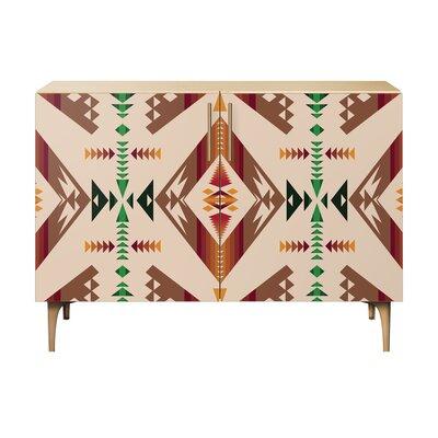 Aldreda 2 Door Cabinet Color: Brass/Natural