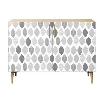 Nance 2 Door Cabinet Color: Brass/Natural