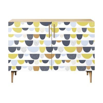 Mccloud 2 Door Cabinet Color: Brass/Natural
