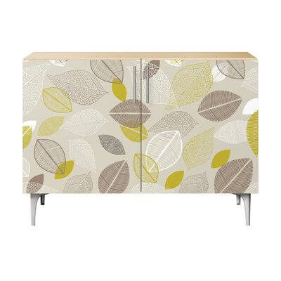 Russell Farm 2 Door Cabinet Color: Chrome/Natural