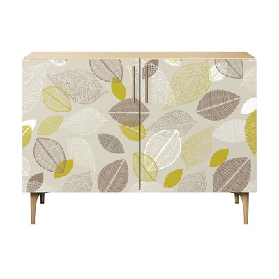 Russell Farm 2 Door Cabinet Color: Brass/Natural