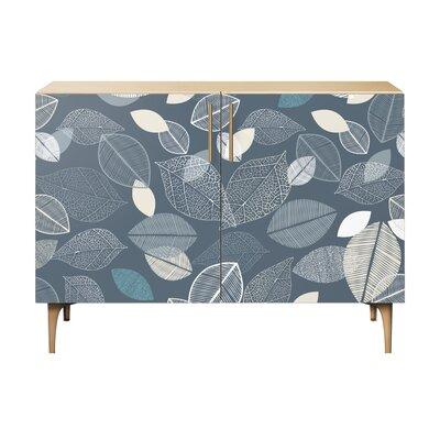 Loomis 2 Door Cabinet Color: Brass/Natural
