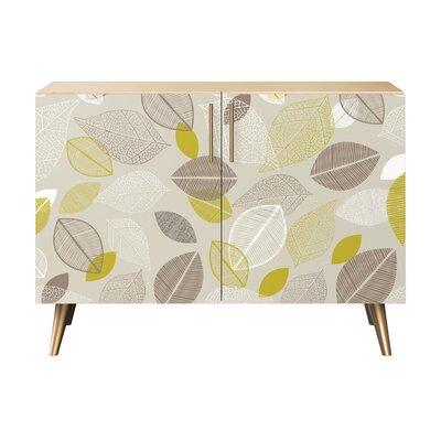 Ryne 2 Door Cabinet Color: Brass/Natural