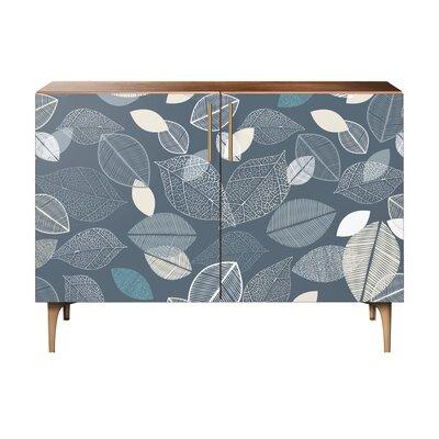 Loomis 2 Door Cabinet Color: Brass/Walnut