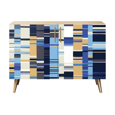 Oneal 2 Door Cabinet Color: Brass/Natural