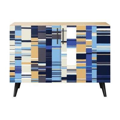 Oneal 2 Door Cabinet Color: Black/Natural
