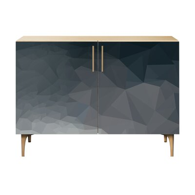 Neal 2 Door Cabinet Color: Brass/Natural