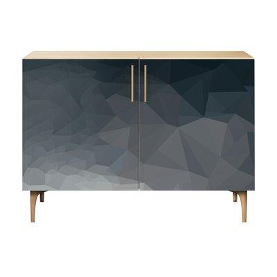 Neal 2 Door Cabinet Color: Brass/Natural