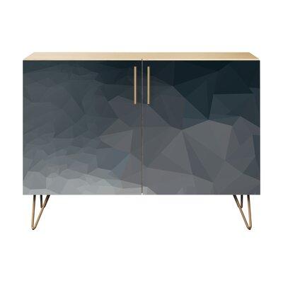 Naquin 2 Door Cabinet Color: Brass/Natural