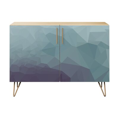 Nugent 2 Door Cabinet Color: Brass/Natural