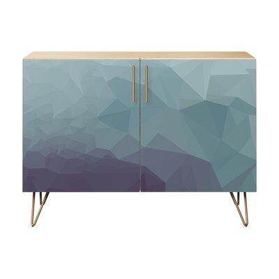 Nugent 2 Door Cabinet Color: Brass/Natural