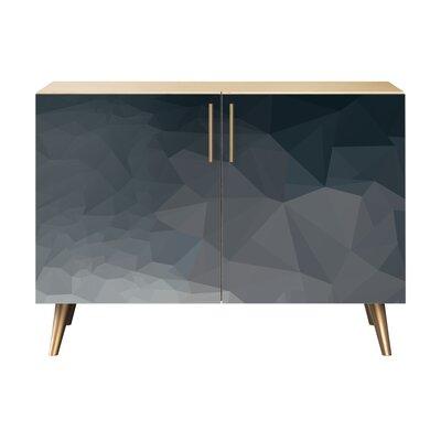 Neff 2 Door Cabinet Color: Brass/Natural