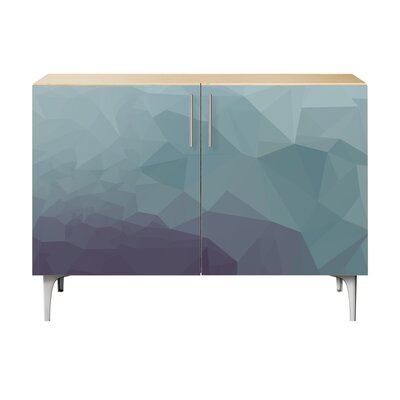 Oakes 2 Door Cabinet Color: Chrome/Natural