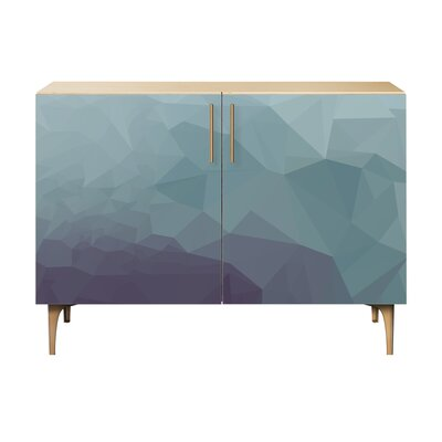 Oakes 2 Door Cabinet Color: Brass/Natural