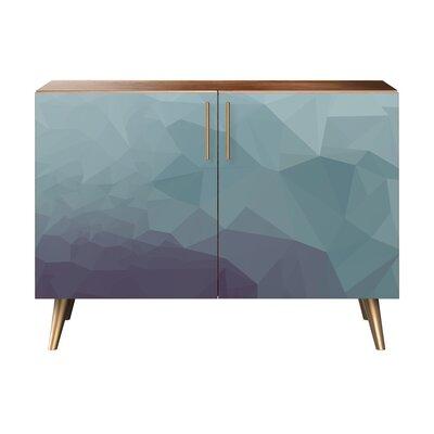 Obrien 2 Door Cabinet Color: Brass/Walnut