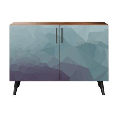 Obrien 2 Door Cabinet Color: Black/Walnut