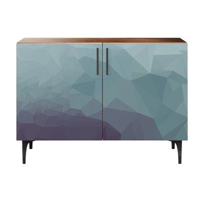Oakes 2 Door Cabinet Color: Black/Walnut