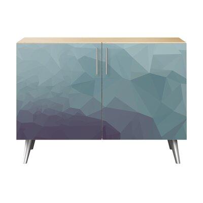 Obrien 2 Door Cabinet Color: Chrome/Natural