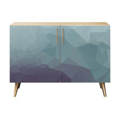 Obrien 2 Door Cabinet Color: Brass/Natural
