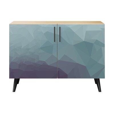Obrien 2 Door Cabinet Color: Black/Natural