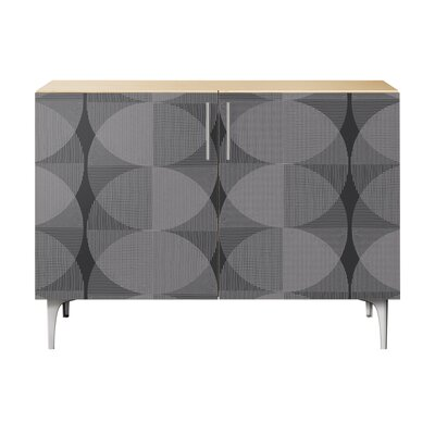 Simone 2 Door Cabinet Color: Chrome/Natural