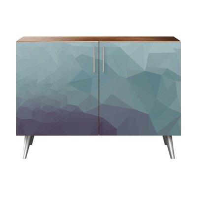 Obrien 2 Door Cabinet Color: Chrome/Walnut