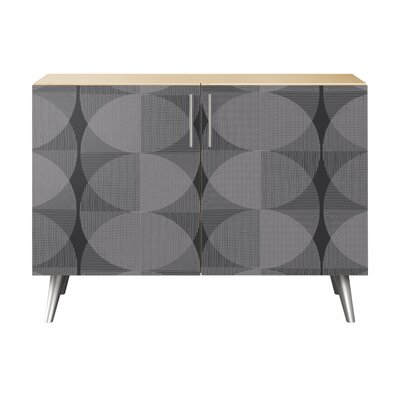Crotts 2 Door Accent Cabinet Color: Chrome/Natural